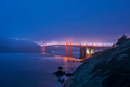 Golden Gate Bridge Evening Fog