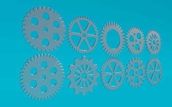 Gears 6 - 3DOcean Item for Sale