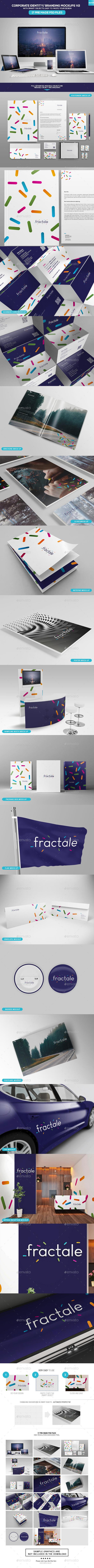 Corporate Identity - Branding Mockups V2