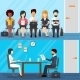 Business People Waiting For Job Interview. Vector