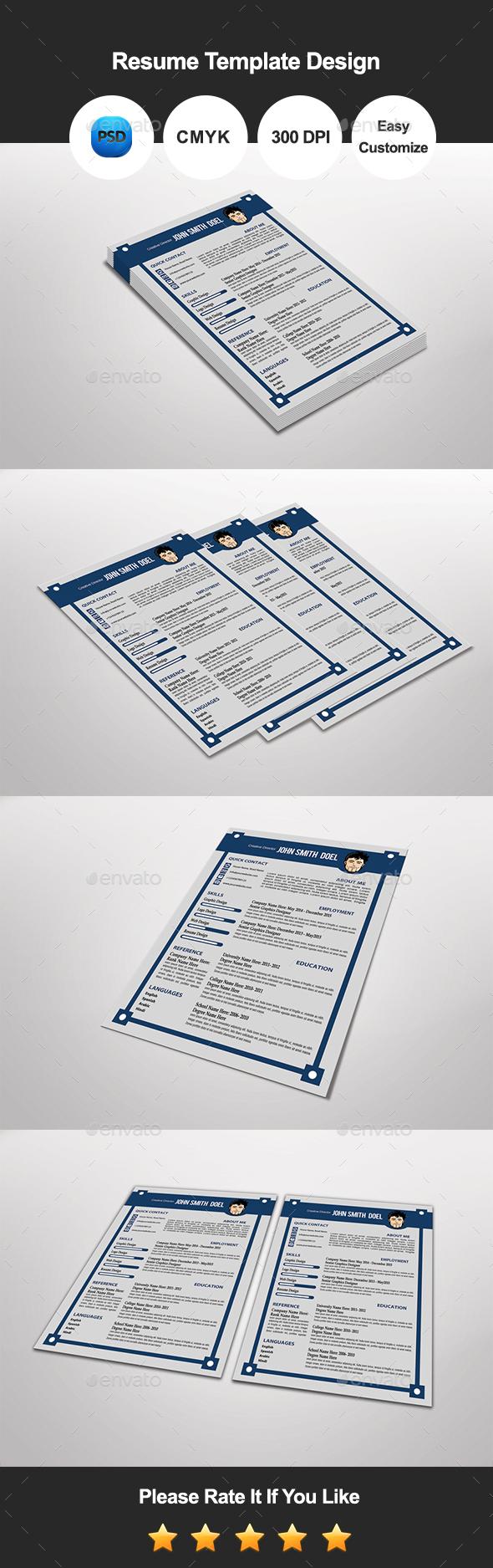 Tanli Resume Template Design