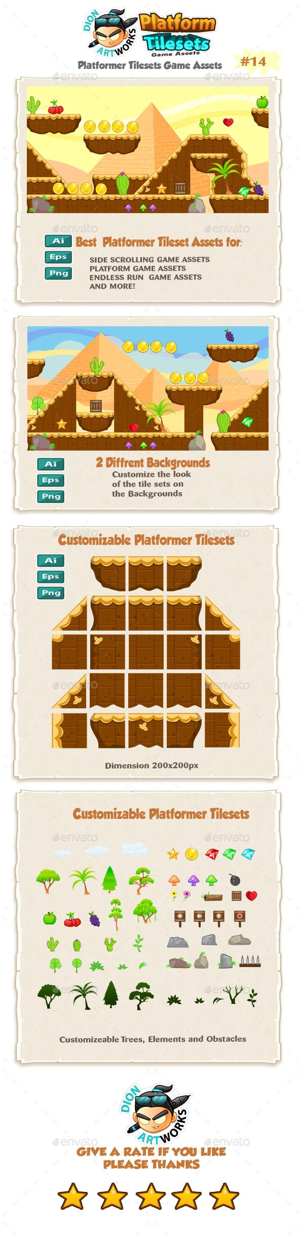 Egyptians Platformer Tilesets 14 (Tilesets)