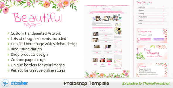 Beautiful+-+A+Hand+painted+Watercolor+PSD