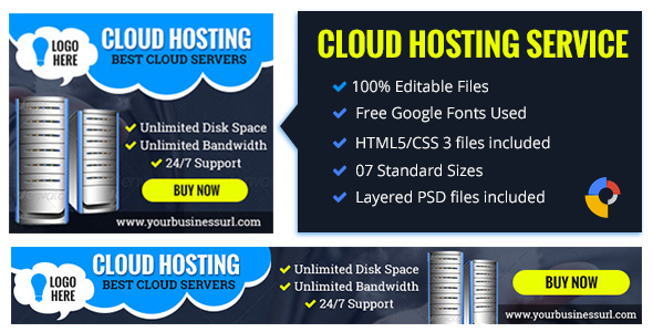 GWD Cloud Hosting | Business Banner - 7 Sizes