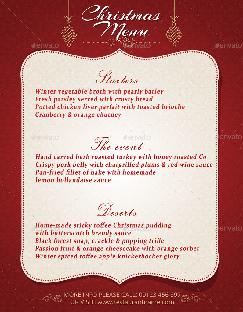 christmas menu template by oloreon graphicriver christmas menu template restaurant flyers · 01 preview cmt jpg 02 preview cmt jpg