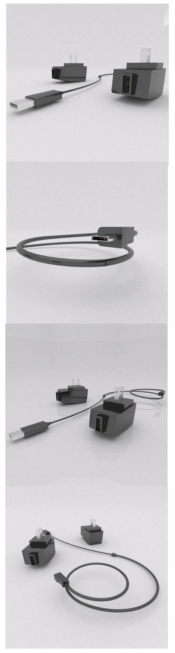 USB power charger - 3DOcean Item for Sale
