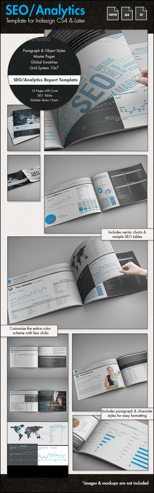 Google Analytics Report Graphics, Designs & Templates