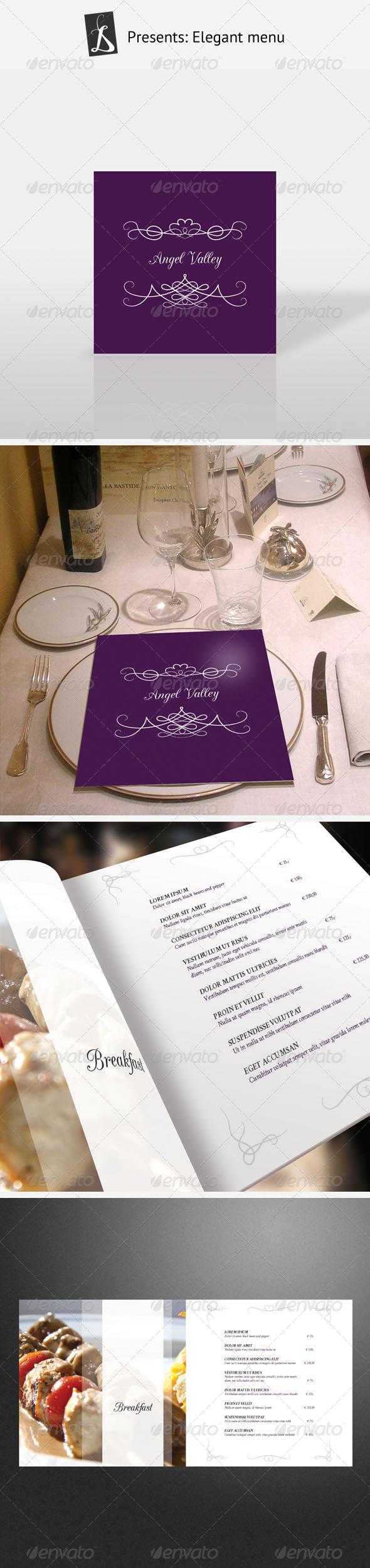 GraphicRiver Elegant Menu 164054