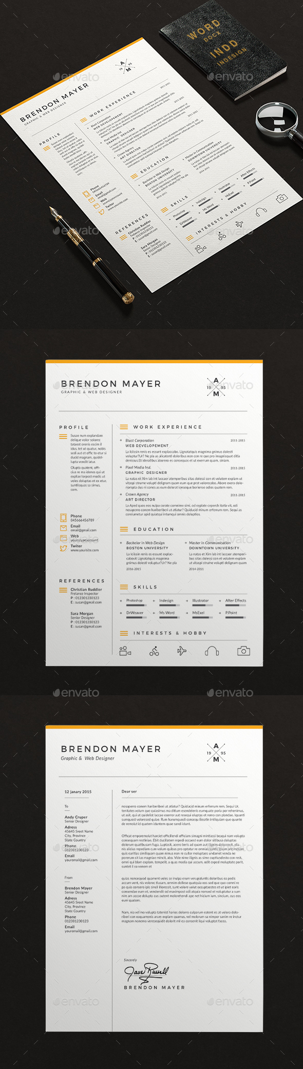 Clean Resume Word