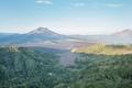 The scenery of mountain in kintamani bali,  beautiful scenery