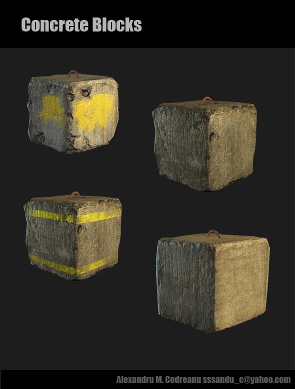 3DOcean Concrete Blocks 1373996