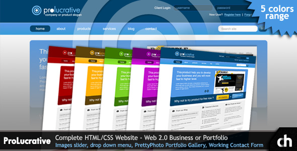 ProLucrative -  Web 2.0 Business, Software HTML - ProLucrative Preview