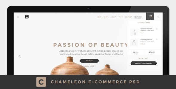 Chameleon Shop PSD Template (Shopping) images