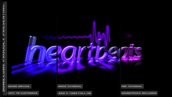 After Effects Project - VideoHive Audio Driven Heartbeat Template 164173