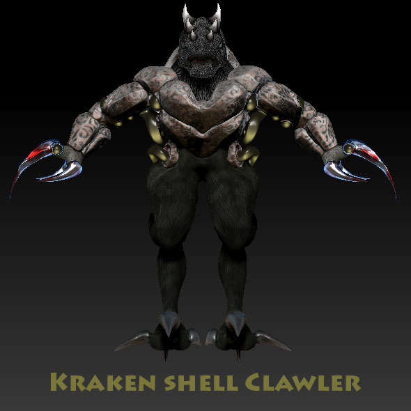 Monster Creature - Clawler - 3DOcean Item for Sale