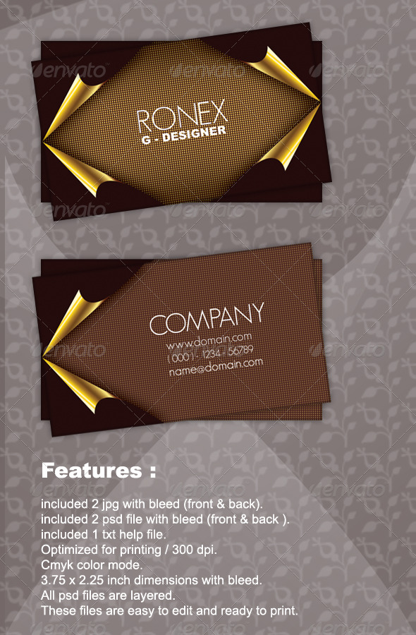 GraphicRiver Gold Queen Business Card 164225