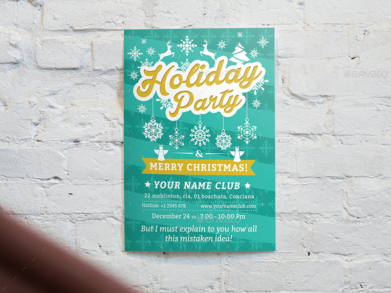 Holiday Party Flyer Template 02 by wutip2 – Holiday Party Flyer Template