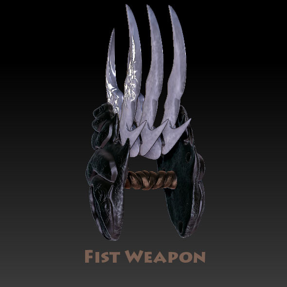 3DOcean Fist Weapon The Eviscerator 1374815