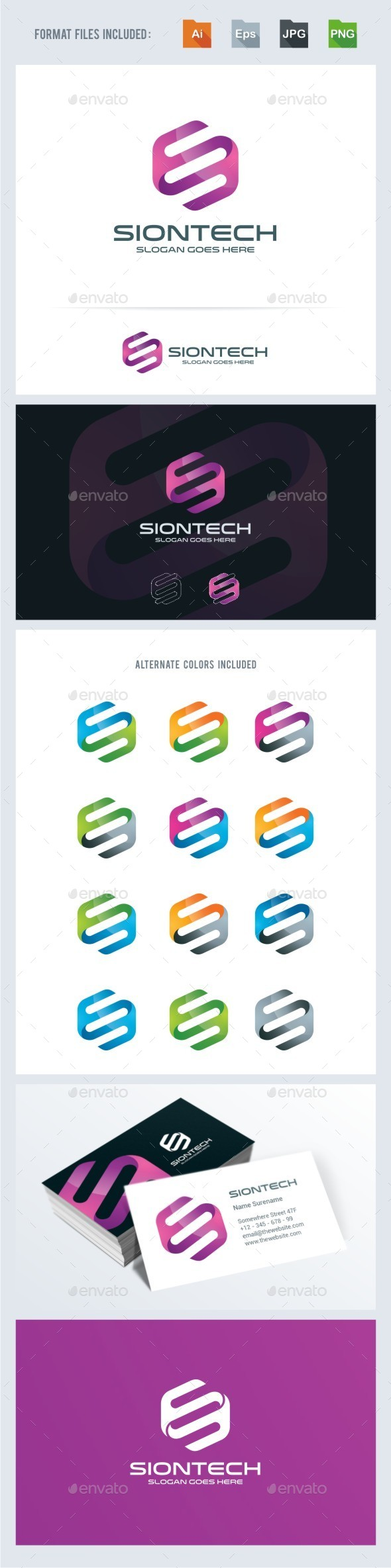 S Letter - Technology Logo Template