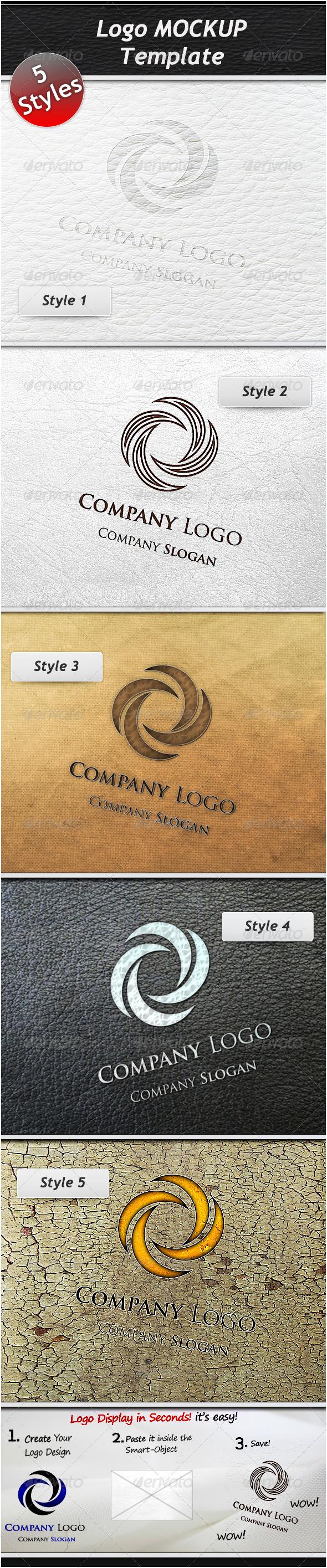 GraphicRiver Logo Mockup Template 1375146