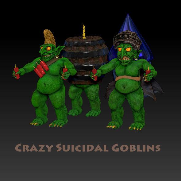 3DOcean Crazy Suicidal Goblins 1375209