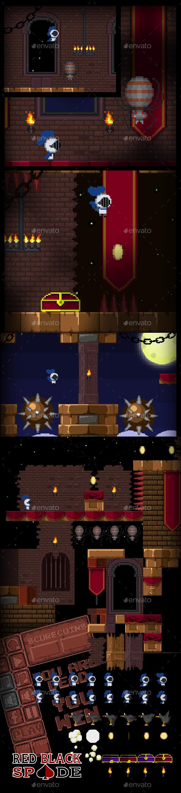 Pixel Castle Game Assets (Tilesets)
