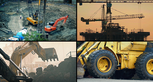 Construction Workers & Machines