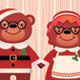 Married Couple Bear Santa Claus and His Wife