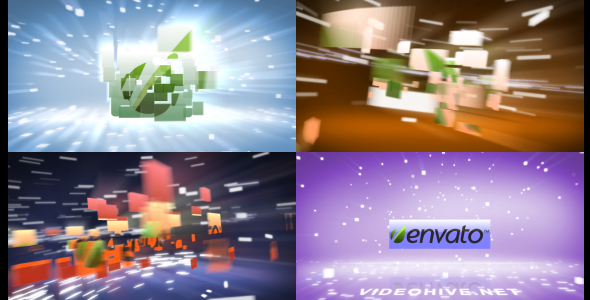 After Effects Project - VideoHive Flying Blocks 164314