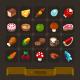 Fantasy Game Icons Set: Food
