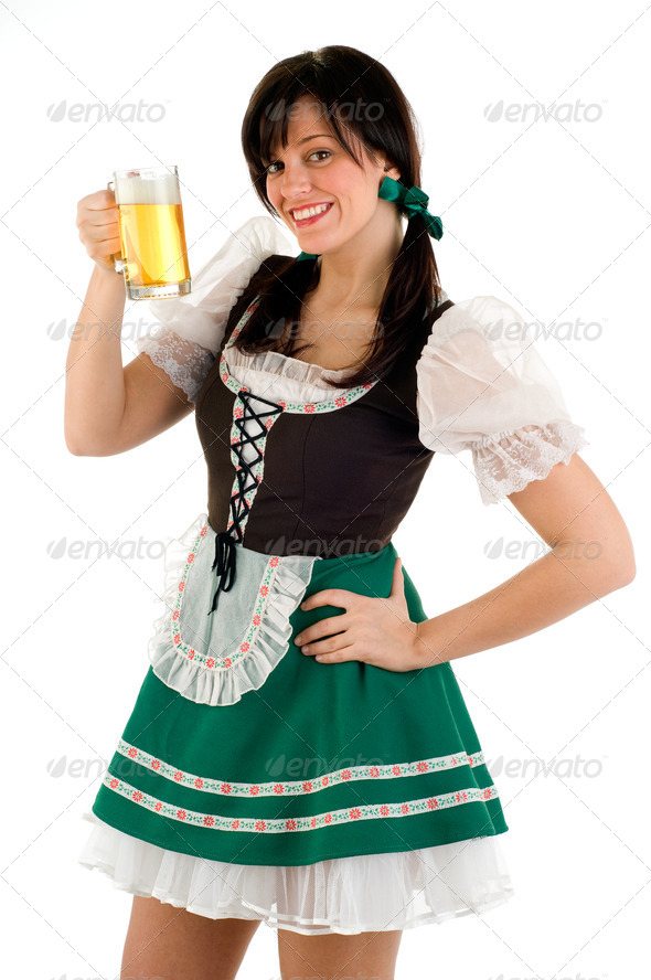Beer Girl - Stock Photo | PhotoDune