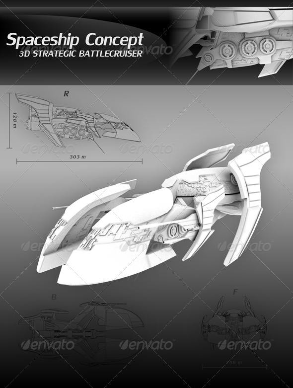 3DOcean 3D Spaceship Concept 164347