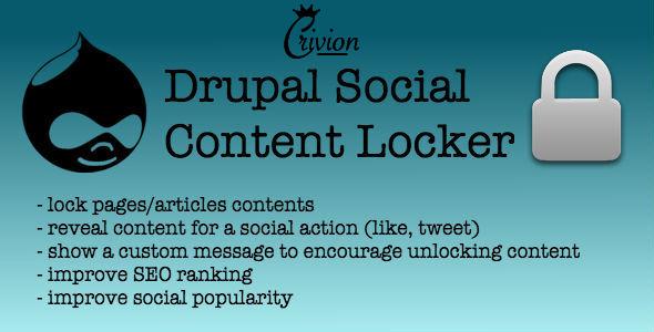 Social Content Locker for Drupal