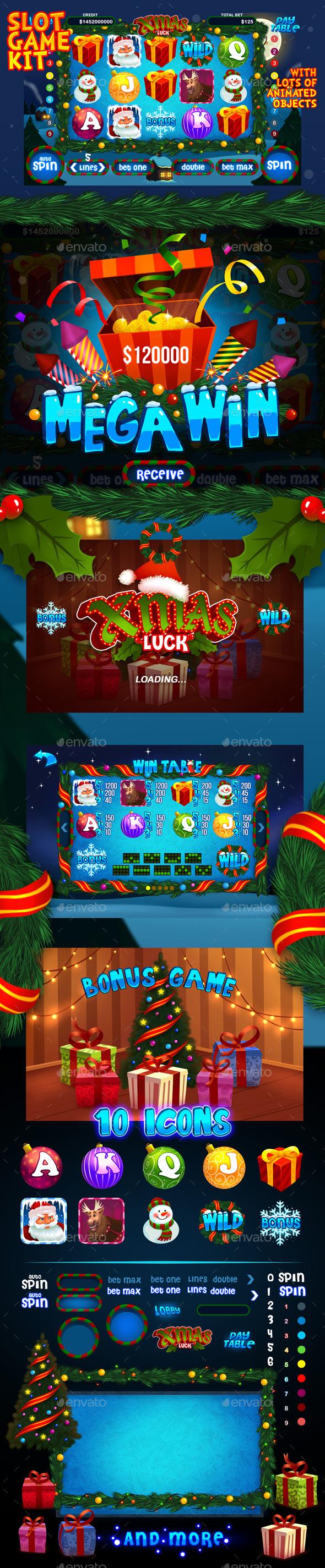 Xmas luck slot game kit (Game Kits)