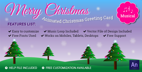 CodeCanyon Musical Animated Greeting Card Merry Christmas 13757404
