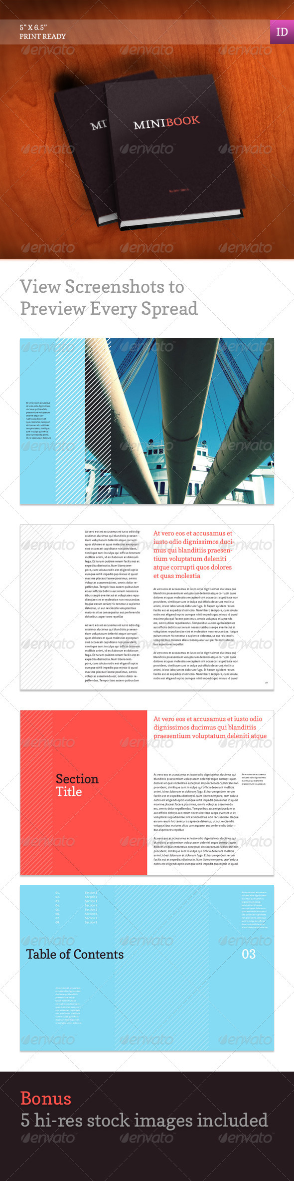workbook template indesign - indesign graphicriver mini book 1376003