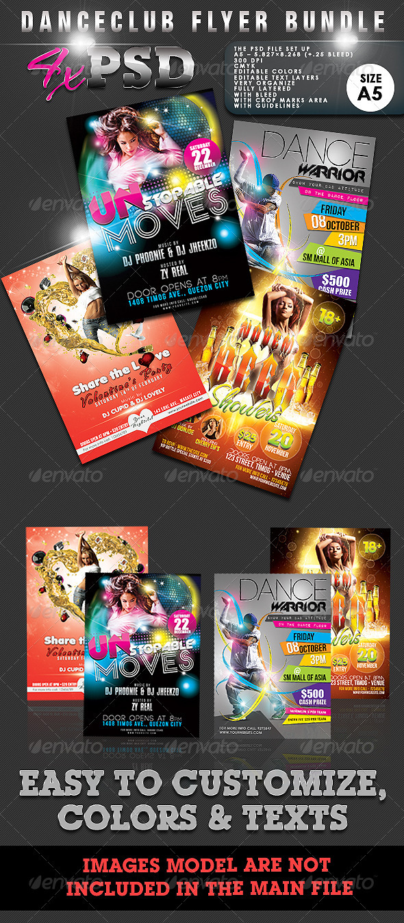 Dance Club Flyer Bundle #01 - Clubs & Parties Events