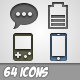 64 Simple Web Icons - GraphicRiver Item for Sale