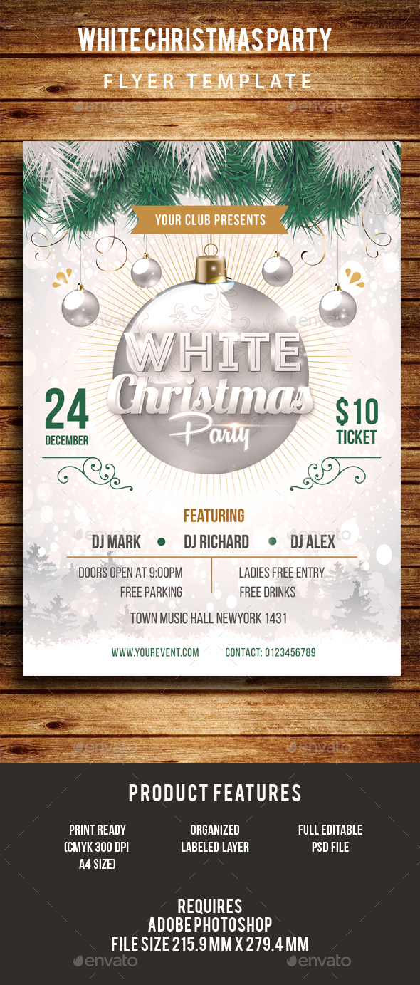 White Christmas Party Flyer