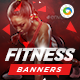 HTML5 Health & Fitness Banners - GWD - 7 Sizes