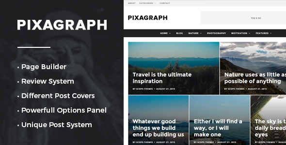 Pixagraph - Responsive WordPress News/Blog Theme
