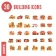 30 Building Icons Flat