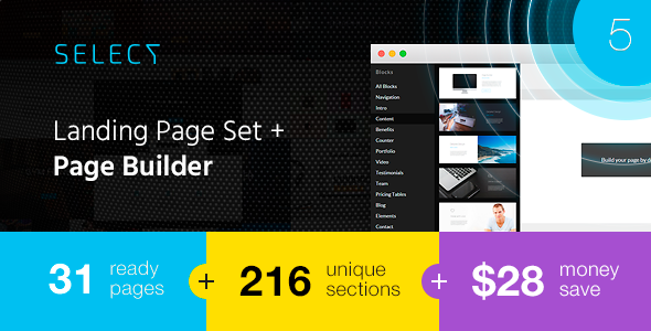 Download Select - Landing Page Set with Page Builder nulled download