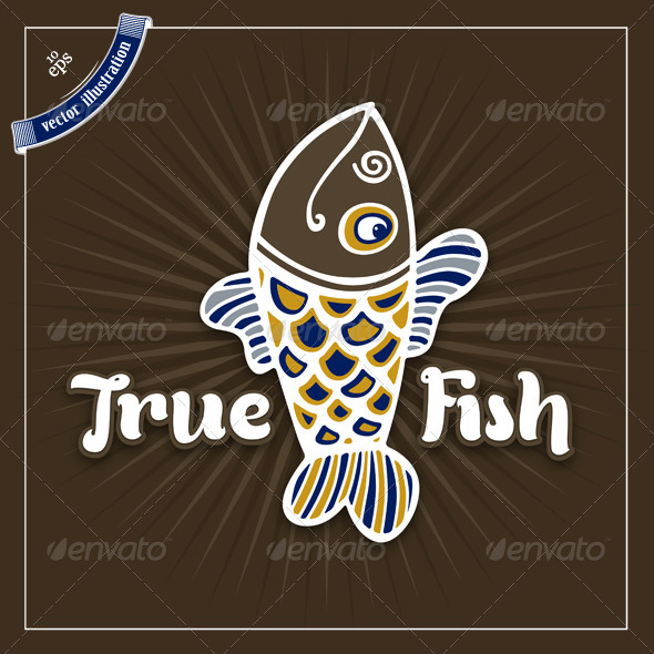 True Fish Logo Template