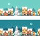 Winter Town Urban Winter landscape Cityscape