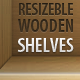 Resizeble Wooden Shelves