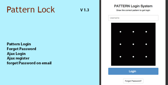 Download Pattern Lock Login Register in PHP nulled download