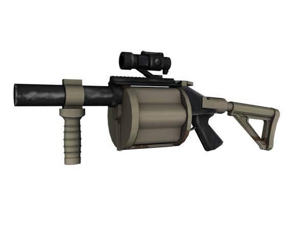 Grenade_launcher - 3DOcean Item for Sale