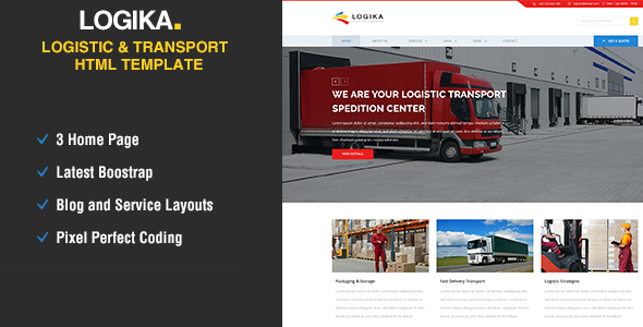 Logica - Logistic, Warehouse & Transport HTML