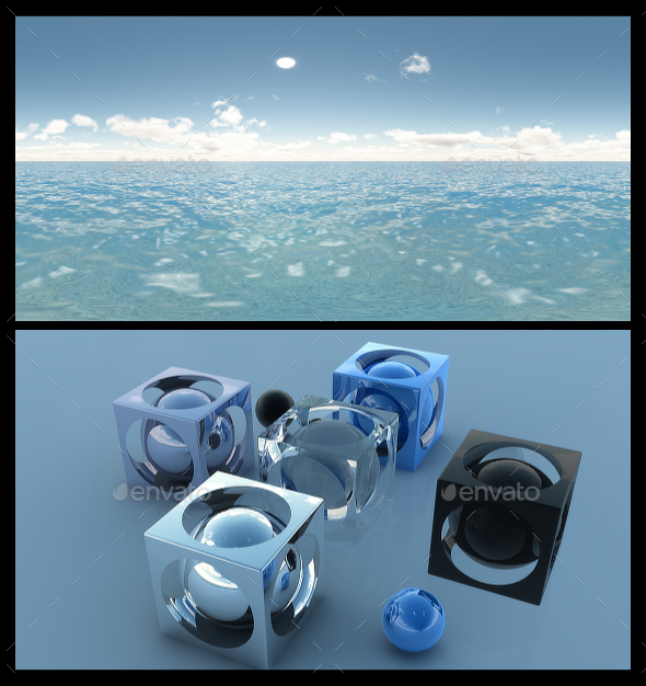 Ocean Blue Clouds 7 - HDRI - 3DOcean Item for Sale